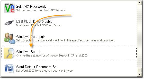 Network Administrator Windows Search