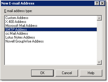SMTP Address Settings